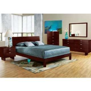 Violet Merlot 7 Pc Queen Bedroom Home & Kitchen