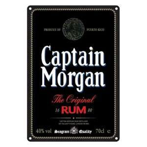 Captain Morgan Black Label Beer Bar Metal Sign: Home & Kitchen