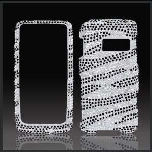 Black Zebra Cristalina crystal bling case cover LG Rumor Touch LN510