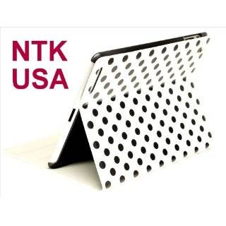 White and Black Polka Dot Pattern Hard Case For iPad 2