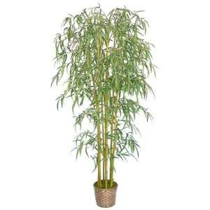 6 Silk Bamboo Tree with Wicker Basket Planter Patio