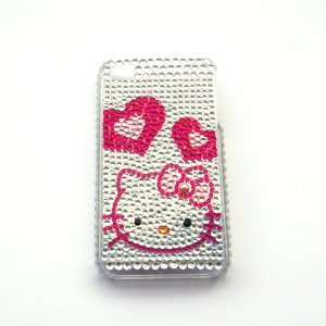 Hello Kitty red heart Rhinestone Bling Crystal back cover