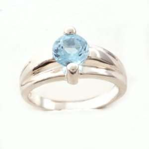 Sterling Silver Blue Topaz Ring Size5.5 Jewelry