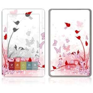 Nook E Book Decal Vinyl Skin   Pink Butterfly Fantasy