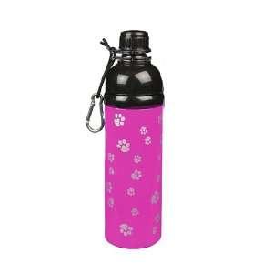 Gear Stainless Steel Dog Water Bottle, 16 Ounce, Pink
