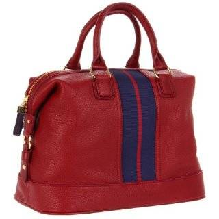 Tommy Hilfiger Th Logo Pebble Leather Bowler Satchel: Shoes