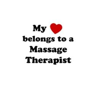 Belongs to a Massage Therapist Dogs Pets Car Truck Vehicle Bumper