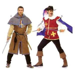 Burda 7976 Mens Pattern Musketeer, Page, Castle Knight