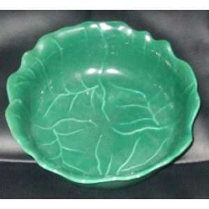 Cabbage Leaf Luster Ware Bowl Made in USA 285 B