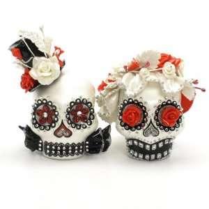 Cake Topper A00014 Skull Day of Dead Wedding Skull Lover Cake toppers
