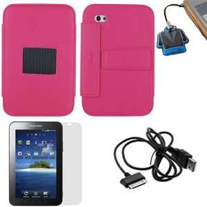 GTMax Hot Pink High Quality Premium Leather Case Folio