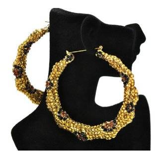 Chain Tassle Basketball Wives LA Hoop Earrings in Gold Everything