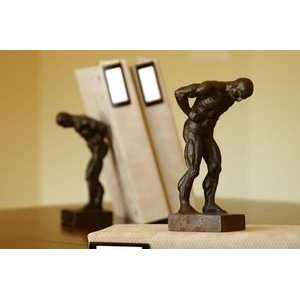 Iron Classical Greek Man Bookends Set