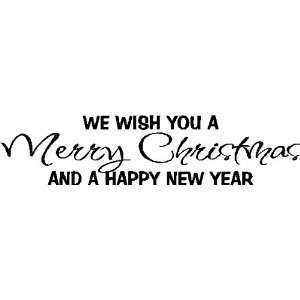 We wish you a Merry Christmas.Christmas Wall Quotes Words Removable