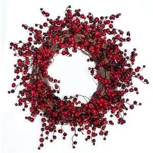 Berry Merry Christmas Wreath   22 inch (Silk) Patio, Lawn & Garden