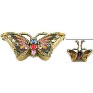 Swarovski Crystal Butterfly Jewelry Trinket Pill Box Arts