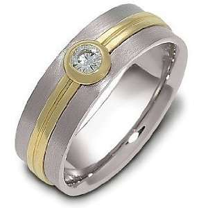 Comfort Fit Wedding Band Ring with 1 Diamond   12 Dora Rings Jewelry