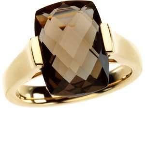 Genuine Checkerboard Smoky Quartz Ring Diamond Designs Jewelry