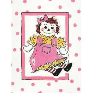Rag Doll Girl / Raggedy Ann Cut Out Note Cards Toys