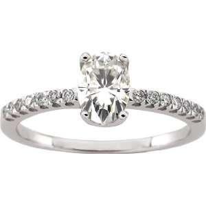 14 karat white gold Moissanite & Diamond Ring Diamond