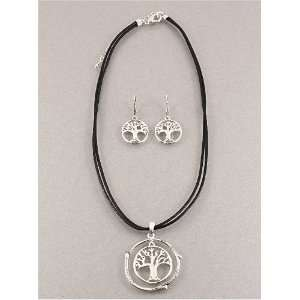 Fashion Jewelry Desinger Inspired Metal Silver Life Tree Necklace and