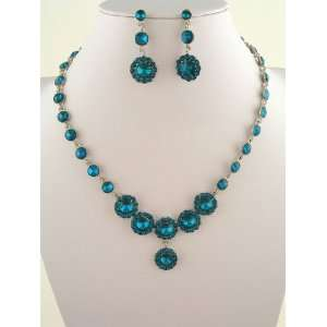 Fashion Jewelry ~ Blue Zircon Indicolite Necklace and Earrings