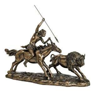 American Indian Buffalo Sculpture Statue Figurine Home & Kitchen