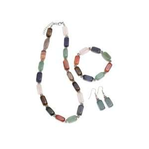 Multi color Gemstone Jewelry Set