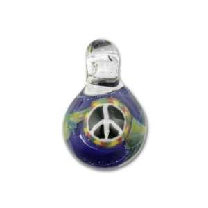 com Multi Colored Peace Dichroic Glass Pendant Arts, Crafts & Sewing