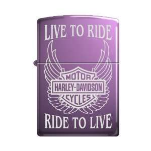 Zippo Harley Davidson Live To Ride Abyss Finish Lighter, 0969