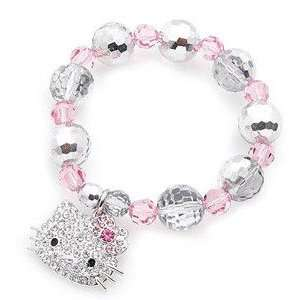 HELLO KITTY MULTI BEAD CRYSTAL CHARM BRACELET Everything