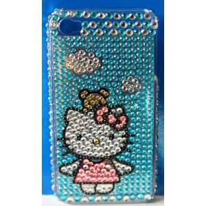 HELLO KITTY RHINESTONES iphone 4 Hard Case Cover Cell Phones