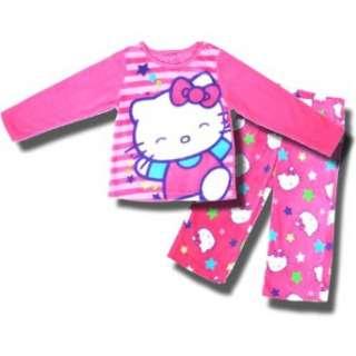 Hello Kitty 2 Piece Pink Fleece Pajamas For Girls Clothing