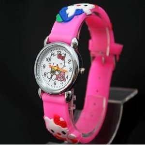 Hello Kitty Watch for Girls   Pink with White Face