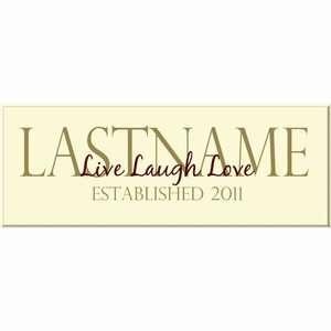 Live Laugh Love Last Name Sign Patio, Lawn & Garden