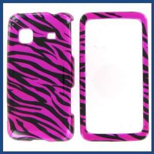 Prevail Zebra on Hot Pink Hot Pink/Black Protective Case Electronics
