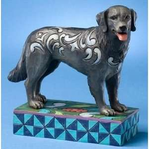 Enesco Jim Shore Duke Black Lab Puppy Dog Figurine