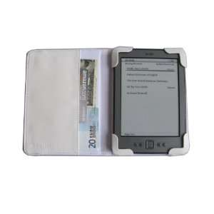 Leather Folio Cover Case with built in inner pocket for  Kindle
