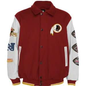 Redskins Full Zip Commemorative Wool Varsity Jacket Sports & Outdoors