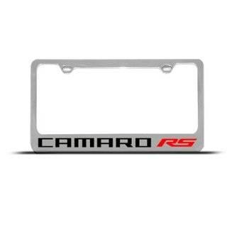 Chevrolet Camaro RS Black Metal License Frame Automotive