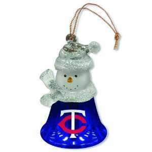 Pack of 3 MLB Minnesota Twins Snowman Bell Christmas