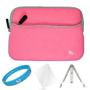 Pink Neoprene Sleeve Carrying Case for  New Nook Touch
