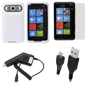 Screen Protector Film Guard + Rapid Car Charger + Micro USB Data Cable