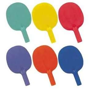 Economy 6 Color Table Tennis Paddles   Set of Four Sports