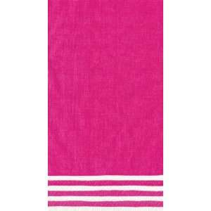 Stripe Border 15 Count Paper Guest Towels, Fuchsia