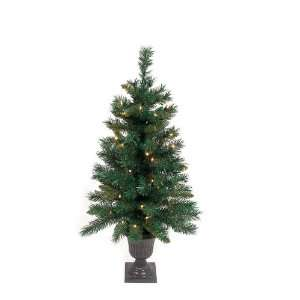 Pre Lit Potted Mixed Pine Artificial Christmas Trees 3   Clear Lights