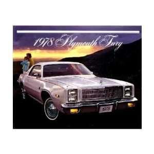 1978 PLYMOUTH FURY Sales Brochure Literature Book