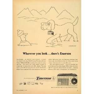 1955 Ad Emerson Transistor Pocket Radio Soglow Jersey   Original Print