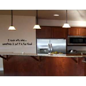 IT IN THE FOOD Vinyl wall quotes kitchen sayings home art decor decal