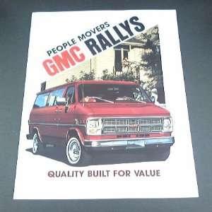 1982 82 GMC RALLY Van BROCHURE G1500 G2500 STX Custom